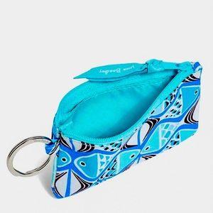Vera Bradley Zip ID Case-Go Fish Blue